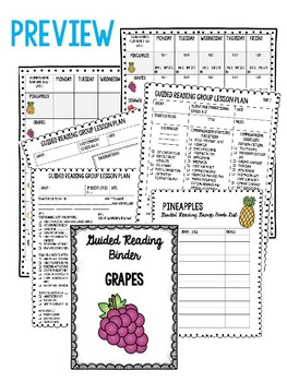 Guided Reading Group Planning Organizer