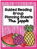 Guided Reading Group Planning Organizers and Binder Set up