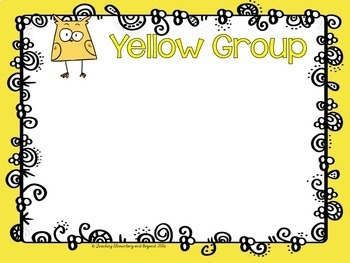 Guided Reading Group Posters: Chick Theme