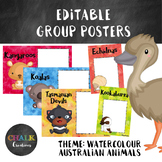 Editable Guided Reading Group Posters - Australian Animals