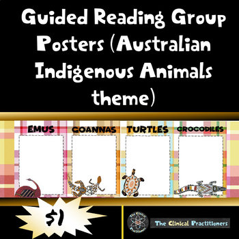 Guided Reading Group Posters (Australian Indigenous Animals theme)