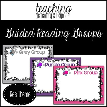 Guided Reading Group Posters: Bee Theme
