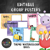 Editable Guided Reading Group Posters - Bugs