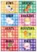 Editable Group Posters - Farmyard Animals