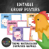 Editable Guided Reading Group Posters - Farm Animals