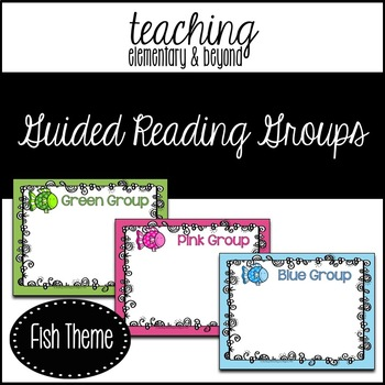 Guided Reading Group Posters: Fish Theme