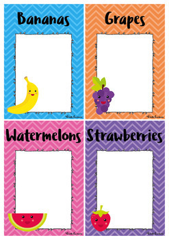 Editable Group Posters - Fruits