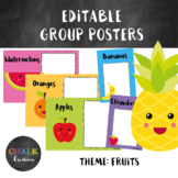 Editable Guided Reading Group Posters - Fruits