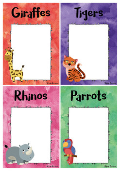 Editable Group Posters - Jungle Animals