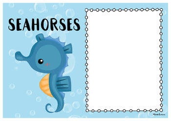 Editable Group Posters - Ocean Creatures