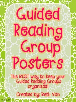 Guided Reading Group Posters--Popping Flowers