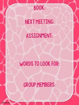 Guided Reading Group Posters--Safari Giraffe