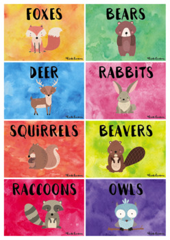 Editable Group Posters - Woodland Animals
