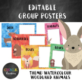 Editable Guided Reading Group Posters - Woodland Animals