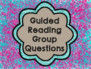 Guided Reading Group Question Cards