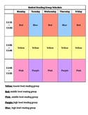 Guided Reading Group Rotation Schedule
