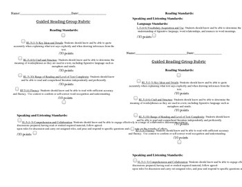 Guided Reading Group Rubric