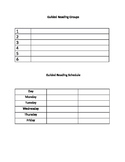 Guided Reading Group/Schedule Form
