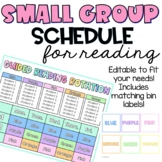 Guided Reading Group Schedule & Rotation Display EDITABLE