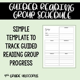Guided Reading Group Schedule Template