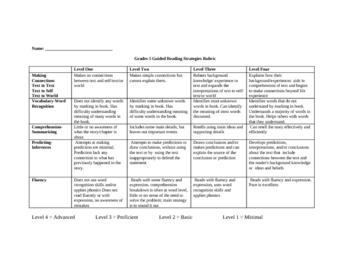 Guided Reading Group Teacher Assessment Sheet
