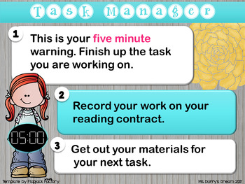 Editable!! Guided Reading Group Time Tracker and Student Task Sheet