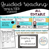 Editable!! Guided Reading Group Time Tracker and Student T