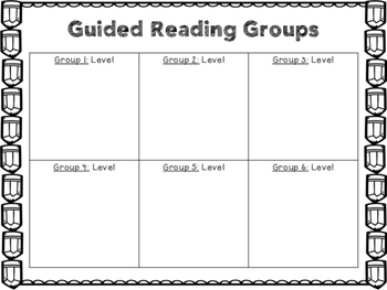 Guided Reading Groups Lesson Plan Outline