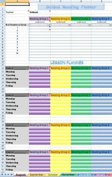 Guided Reading Groups Lesson Planner and Intervention Note
