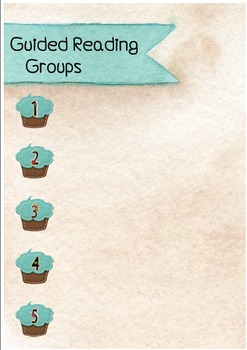 Guided Reading Groups Poster - Cupcake Theme