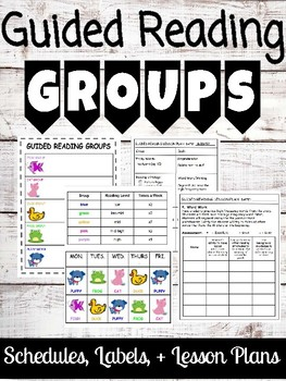 Guided Reading Groups Prep Pack