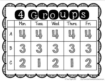 Small Groups Scheduling Charts {freebie!}