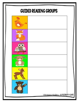 Guided Reading Groups and Schedule- Woodlands Edition