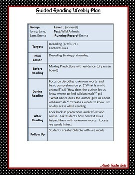 Guided Reading Guide and Tools