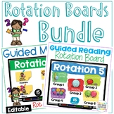 Guided Reading Guided Math Rotation Boards Bundle