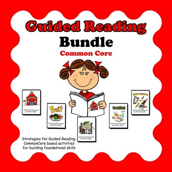Guided Reading, Guided Reading Strategies, Guided Reading Books 1-5 Bundle