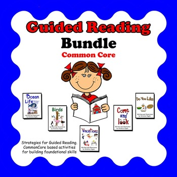 Guided Reading, Guided Reading Strategies, Guided Reading Books 6-10 Bundle