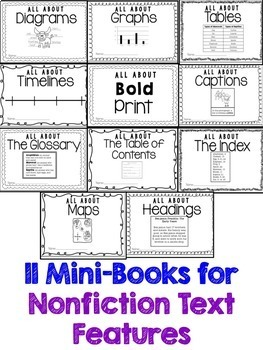 Guided Reading Gurus: Nonfiction Text Features Printable Mini-Books