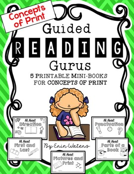 Guided Reading Gurus: Printable Mini-Books for Teaching Concepts of Print