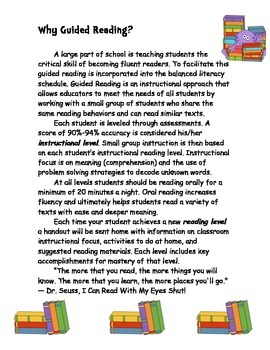 Guided Reading Handouts (Color version)