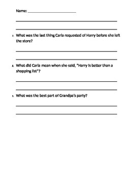 Guided Reading - Help From Harry