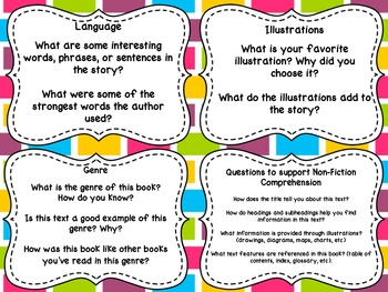Guided Reading Higher Level Comprehension Prompts (Fountas and Pinnell)