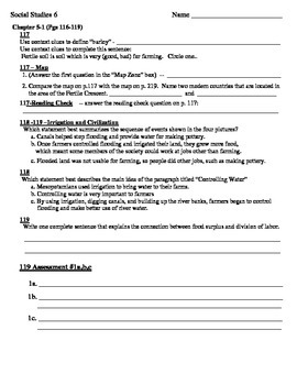 Guided Reading  Holt Social Studies  Fertile Crescent