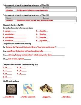 Guided Reading  Holt Social Studies  Fertile Crescent Part 3