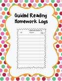 Guided Reading Homework Log