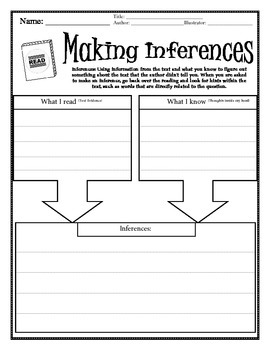 Guided Reading Inference Graphic Organizer