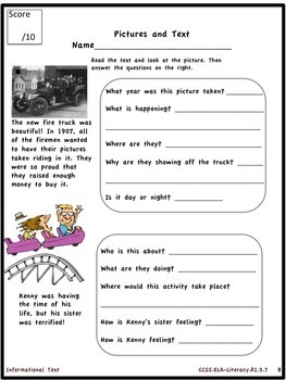 Guided Reading Informational Text Testing and Documentation Kit for 3rd Grade