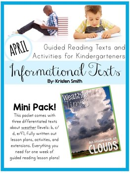 Guided Reading Informational Texts-  Cloud Texts and Lesson Plans