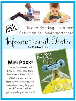 Guided Reading Informational Texts-  Insect Texts and Less