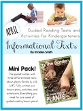 Guided Reading Informational Texts-  Life In The Garden Texts and Lesson Plans